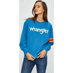 Wrangler - Bluza. Szare bluzy z nadrukiem damskie marki Wrangler, m, z bawełny, bez kaptura. Za 199,90 zł.