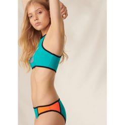 Bikini: Dwuczęściowy strój kąpielowy z napisem – Turkusowy