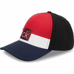 Czapka z daszkiem CALVIN KLEIN JEANS - Clr Blocking Trucker K50K504117 448. Czerwone czapki z daszkiem męskie Calvin Klein Jeans, z bawełny. Za 179,00 zł.
