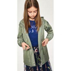 Parka z kapturem - Zielony. Brązowe kurtki dziewczęce marki Reserved, l, z kapturem. Za 89,99 zł.