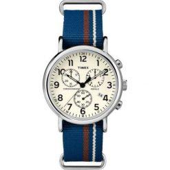 Zegarek Timex Męski TW2P62400 Weekender Chrono niebieski. Niebieskie zegarki męskie Timex. Za 488,49 zł.