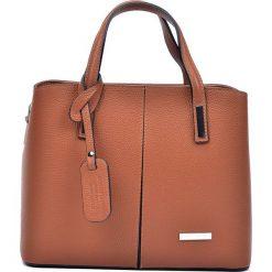 Torebki klasyczne damskie: Skórzana torebka w kolorze brązowym – 26,5 x 31 x 14,5 cm