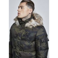 SIKSILK PUFF Płaszcz zimowy khaki. Brązowe płaszcze na zamek męskie SIKSILK, na zimę, m, z materiału. W wyprzedaży za 381,75 zł.
