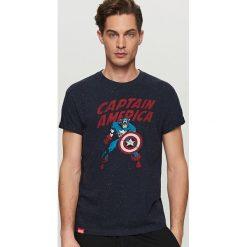 T-shirty męskie: T-shirt marvel – Granatowy