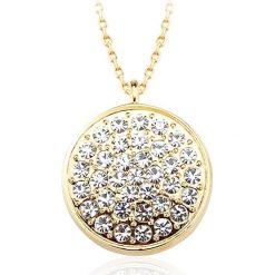 Naszyjniki damskie: Pozłacany naszyjnik z kryształami Swarovski – dł. 42 cm