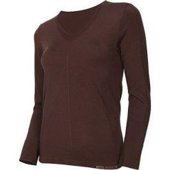 Brubeck Koszulka damska z długim rękawem Comfort Night brązowa r. L (LS12910). Brązowe topy sportowe damskie Brubeck, l, z długim rękawem. Za 119,99 zł.