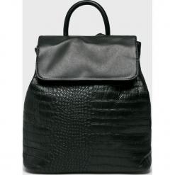 Answear - Plecak. Czarne plecaki damskie ANSWEAR, z materiału. W wyprzedaży za 89,90 zł.