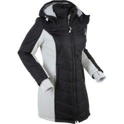 Płaszcz funkcyjny pikowany bonprix czarno-srebrny. Czarne płaszcze damskie bonprix, s. Za 239,99 zł.