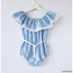Body typu hiszpanka - kolor do wyboru. Białe body niemowlęce Pakamera, w koronkowe wzory, z koronki. Za 89,00 zł.