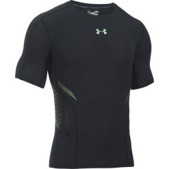 Under Armour Koszulka męska HeatGear Armour Zonal Comp SS BLK//IRF r. L (1289555-001). Szare koszulki sportowe męskie marki Under Armour, z elastanu, sportowe. Za 174,00 zł.
