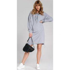 Sukienka dresowa midi dłuższy tył Sukienki dresowe damskie