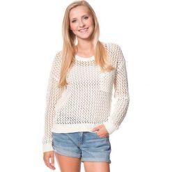 """Sweter """"Turnabout"""" w kolorze kremowym. Białe swetry klasyczne damskie marki Roxy, l, z dzianiny, z okrągłym kołnierzem. W wyprzedaży za 151,95 zł."""