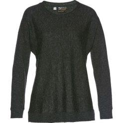 Swetry klasyczne damskie: Sweter z domieszką kaszmiru bonprix antracytowy melanż