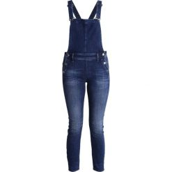 Kombinezony damskie: GStar LYNN HIGH SLIM NAVY OVERALL  Kombinezon darkblue denim