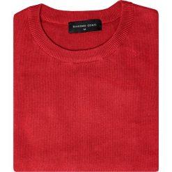 Sweter EDMONDO SWTR000212. Czerwone swetry klasyczne męskie marki Giacomo Conti, na jesień, m, z bawełny. Za 149,00 zł.
