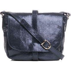 Torebki klasyczne damskie: Skórzana torebka w kolorze granatowym – 24 x 9 x 20 cm