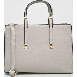 Answear - Torebka. Brązowe torebki klasyczne damskie ANSWEAR, w paski, z materiału, średnie. W wyprzedaży za 119,90 zł.