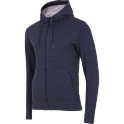 Bluzy męskie: Bluza męska BLM003 – ciemny granatowy melanż