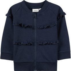 """Bluza """"Elisa"""" w kolorze granatowym. Niebieskie bluzy niemowlęce name it girls, z bawełny. W wyprzedaży za 49,95 zł."""