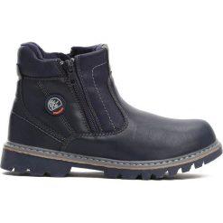 Granatowe Traperki City Park. Niebieskie buty zimowe chłopięce Born2be, z materiału, z okrągłym noskiem, na zamek. Za 69,99 zł.