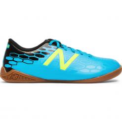 Halówki Junior Visaro 2.0 Control IN - JSVCIMH2. Niebieskie buty sportowe chłopięce New Balance, z gumy. W wyprzedaży za 129,99 zł.