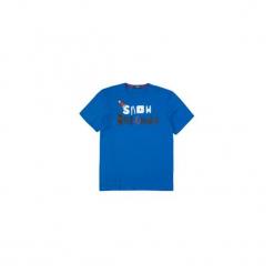 T-shirt krótki rękaw męski z printem. Szare t-shirty męskie z nadrukiem marki TXM, z dresówki. Za 14,99 zł.