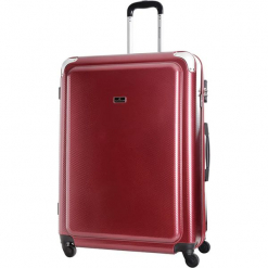 Walizka w kolorze bordowym - 84 l. Czerwone walizki marki Platinium, z materiału. W wyprzedaży za 269,95 zł.
