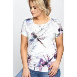 Bluzki asymetryczne: Biały T-shirt Mantiss