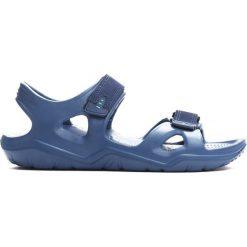 Niebieskie Sandały Innocence. Niebieskie sandały męskie Born2be, z materiału, z otwartym noskiem. Za 39,99 zł.