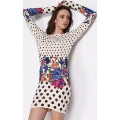 Kremowa Sukienka All Night. Białe sukienki mini marki Born2be, s. Za 39,99 zł.