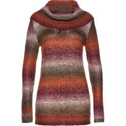 Golfy damskie: Długi sweter bonprix pomarańczowy