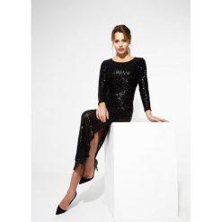 Długie sukienki: Czarna Sukienka Lights Down Low