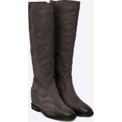 Carinii - Kozaki. Czarne buty zimowe damskie Carinii, z materiału, z okrągłym noskiem, na koturnie. W wyprzedaży za 199,90 zł.