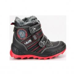 Buty dziecięce zimowe na rzepy czarne r. 30. Czarne buciki niemowlęce American CLUB, na zimę, na rzepy. Za 141,29 zł.