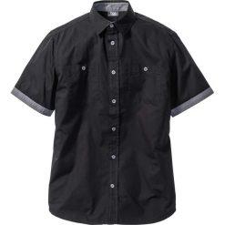 Koszule męskie na spinki: Koszula z krótkim rękawem Regular Fit bonprix czarny