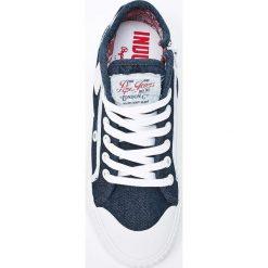 Pepe Jeans - Tenisówki Industry Jeans. Szare tenisówki damskie Pepe Jeans, z gumy. W wyprzedaży za 179,90 zł.