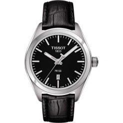 RABAT ZEGAREK TISSOT T- CLASSIC. Czarne zegarki męskie TISSOT, ze stali. W wyprzedaży za 875,60 zł.