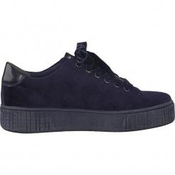 Sneakersy w kolorze granatowym. Niebieskie sneakersy damskie Marco Tozzi. W wyprzedaży za 104,95 zł.