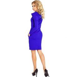 Silvia Sukienka z GOLFEM - grube punto - chabrowa. Niebieskie sukienki na komunię marki numoco, s, z golfem. Za 145,00 zł.
