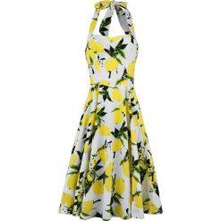 H&R London Lemon Print Swing Dress Sukienka biały. Białe sukienki letnie H&R London, l, z nadrukiem, midi. Za 164,90 zł.