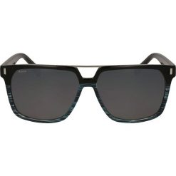 Okulary przeciwsłoneczne męskie: Niebieskie czarne okulary przeciwsłoneczne męskie