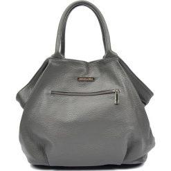 Torebki klasyczne damskie: Skórzana torebka w kolorze szarym – (S)30 x (W)37 x (G)13 cm