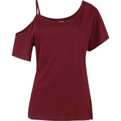 RED by EMP Soft Shoulder Koszulka damska bordowy. Czerwone bluzki z odkrytymi ramionami marki RED by EMP, m, z asymetrycznym kołnierzem. Za 79,90 zł.