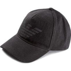 Czapka męska EMPORIO ARMANI - 627252 8P558 00020 Black. Czarne czapki damskie Emporio Armani, z bawełny. W wyprzedaży za 219,00 zł.