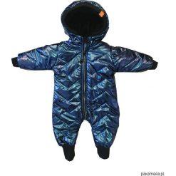 Kombinezon zimowy granat - ściągacze. Niebieskie kombinezony niemowlęce marki MINOTI, w paski. Za 219,00 zł.