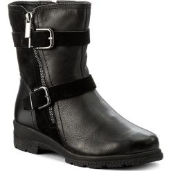 Botki CAPRICE - 9-26458-29 Black Comb 019. Czarne buty zimowe damskie marki Caprice, ze skóry, na obcasie. W wyprzedaży za 309,00 zł.