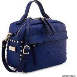 Torebka na ramię LIN Cobalt Blue. Niebieskie torebki klasyczne damskie marki Pakamera. Za 230,00 zł.