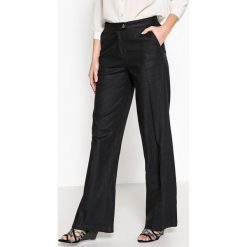 Spodnie z wysokim stanem: Szerokie spodnie, w większości z lnu