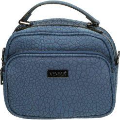 Torebka - 90-8862-M BLU. Żółte torebki klasyczne damskie marki Venezia, ze skóry. Za 179,00 zł.