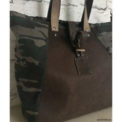 Shopper bag damskie: Torba Fio skóra-moro